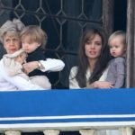 Angelina Hangs Out With Her Mother In-Law And The Twins