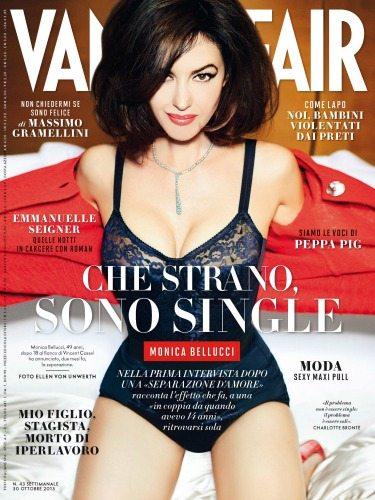 Monica Bellucci su Vanity Fair