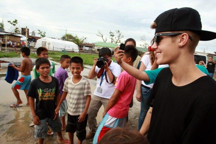 Justin Bieber nelle Filippine | © Jeoffrey Maitem / Getty Images