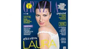 Laura Pausini sulla copertina di Grazia