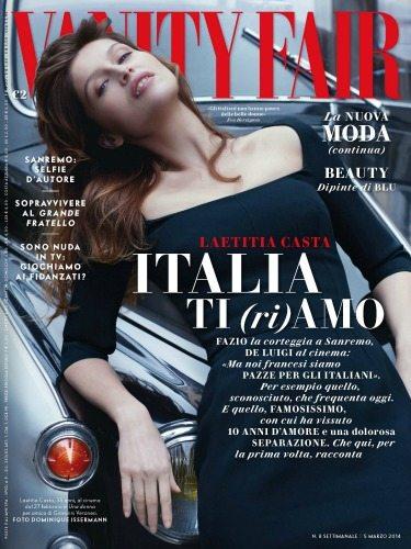Laetitia Casta sulla cover di Vanity Fair