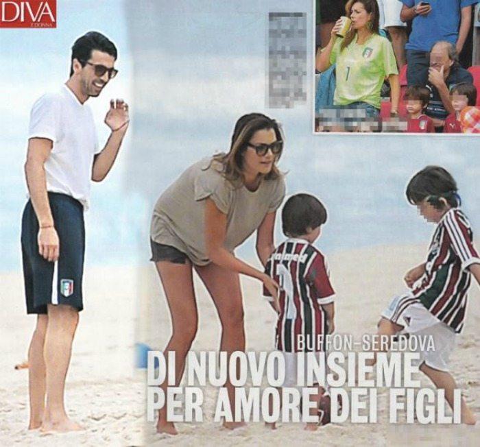 Gigi Buffon e Alena Seredova in Brasile | Diva e Donna