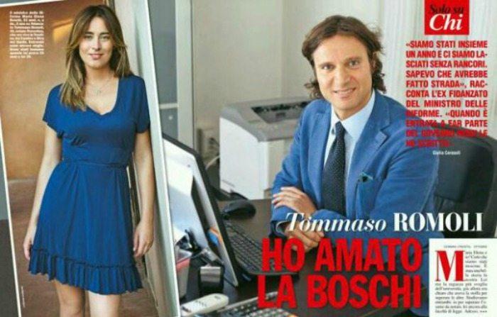 Tommaso Romoli e Maria Elena Boschi   © Chi