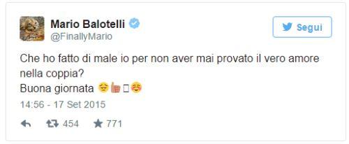 Mario Balotelli tweet